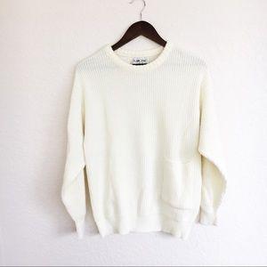 [Vintage] Light Ivory Knit Sweater